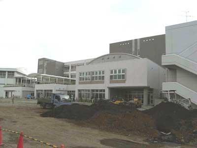 完成間近の新校舎