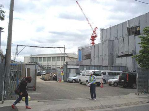 新校舎建設風景