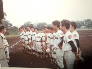 24期、25期での昭和46年秋季大会予選、旧早実グランドにて。